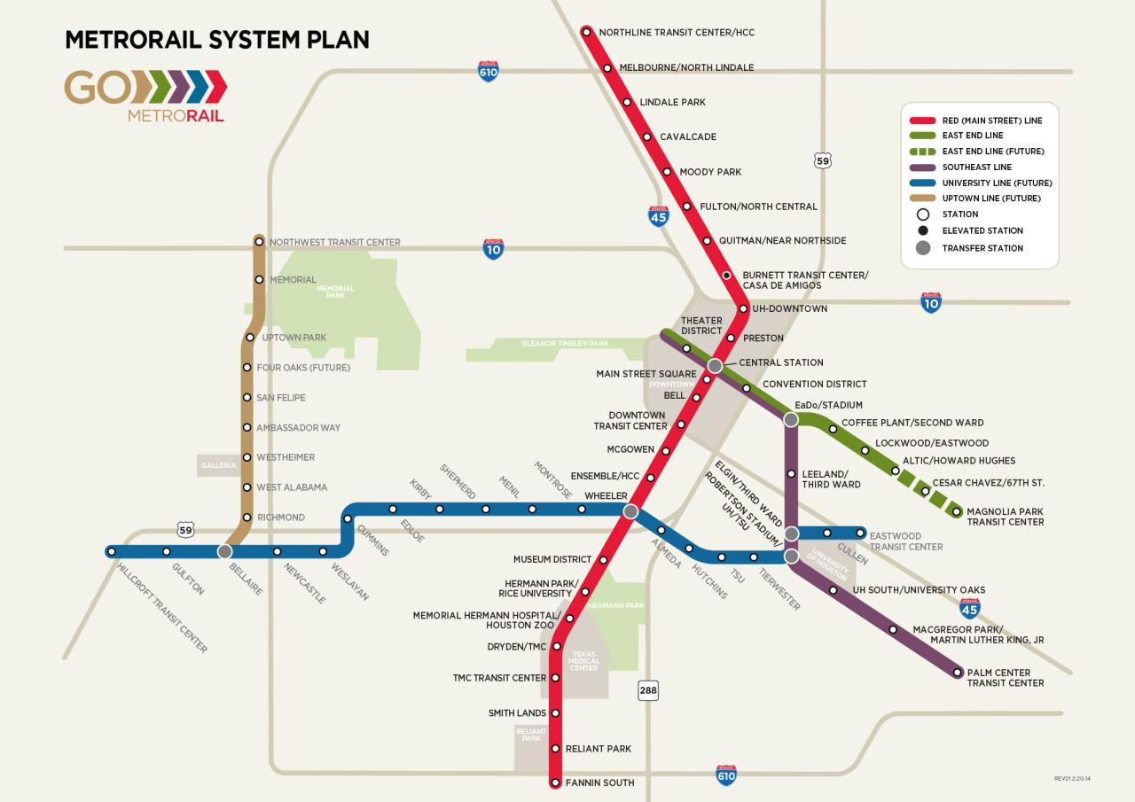 Houston Gelezinkelių Zemėlapis Houston Traukinių Zemėlapis